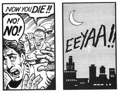 Comic Transition Example Between Panels